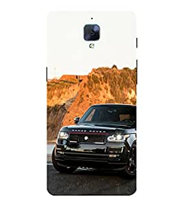 Luxury Black Car 3D Hard Polycarbonate Designer Back Case Cover for OnePlus 3 :: OnePlus Three