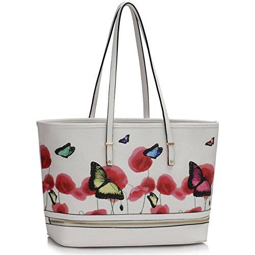 Trendstar Frau Entwerfer Handtaschen Damen Berühmtheit Stil Neu Imitat Leder Für Leinentrage Taschen Weiß 1