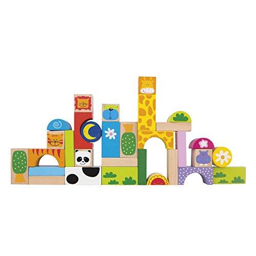 ColorBaby - Juegos bloques animales, madera, 32 piezas (42739)