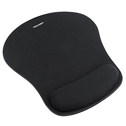TeckNet Mouse Mat with Gel Rest - Non-slip Rubber base - Special-Textured Surface
