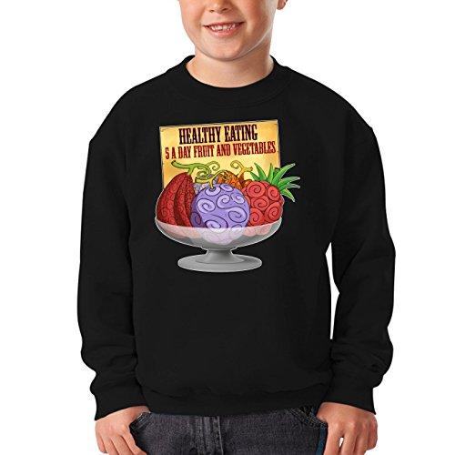 Parodie auf die Teufelsfrucht von One Piece Kinder Sweatshirt (755)