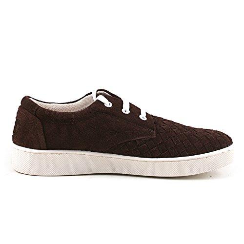 Shenduo - Sneakers & Mocassins pour homme Nubuck - Loafers confort - Chaussures de ville D7366 Marron