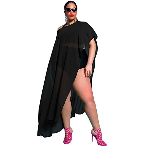 meinice-draped-plus-tamano-cover-up-negro-negro-talla-unica