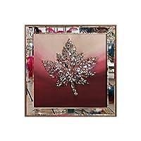 Atl Dekor ATL-1025-8 Izabel Bordo Çinar Yapraği Mozaik 60x60 Cm