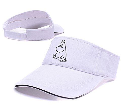 Sianda Moomin Valley Logo Visiera ricamo Golf Cappello Sole Cap, Uomo, White Visor, Taglia unica