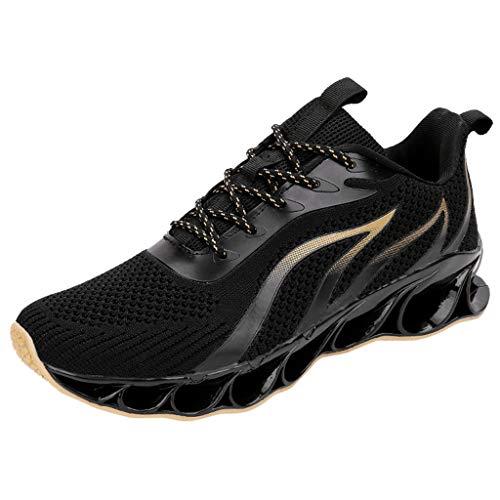 AIni Herren Schuhe,Mode 2019 Neuer Heißer Beiläufiges Mesh Sport Laufschuhe Atmungsaktive Turnschuhe Kletterschuhe Partyschuhe Freizeitschuhe(39,Gelb)
