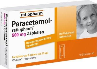 PARACETAMOL ratiopharm 500 mg Kindersuppositorien 10 St