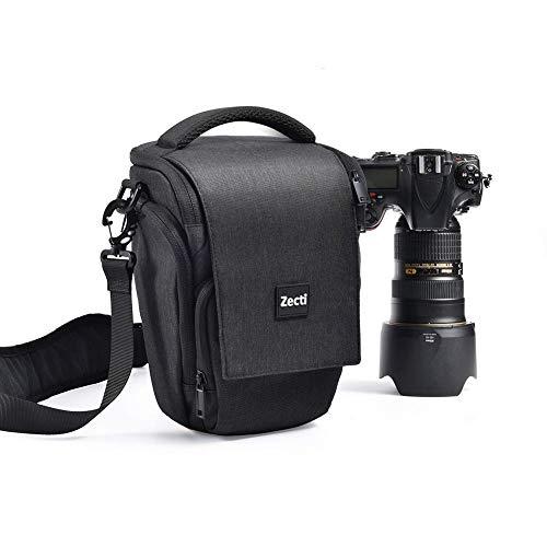Professioneller Kameratasche, Zecti Fototasch Schlaufen Rucksack für Nikon Canon Sony und DSLR Kameras und Objektiv, Weiteres Zubehör, wasserdichte Tasche (Schwarz)