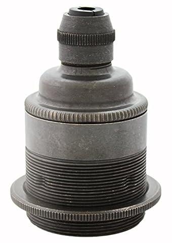 Bronze Lamp Holder | ES E27 | Brass Edison Screw Bulb Holder in Bronze Finish With Shade Ring