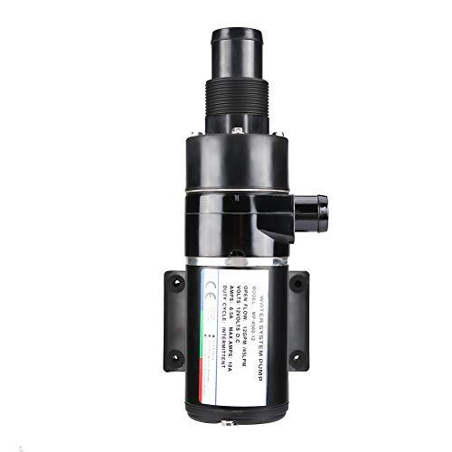 Schmutzwasserpumpen,12V Selbstansaugende Abwasserpumpen PVC Zur Trockenlegung Von Abwasser Für RV- Und Yachtpumpen Schwarz -