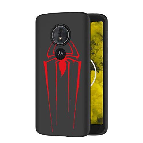 ZhuoFan Funda Moto G6 Play Cárcasa Silicona Ultrafina Negra con Dibujos Diseño...