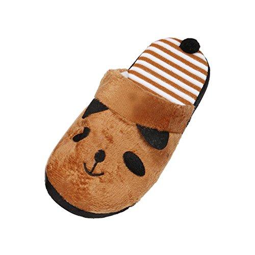 Yogogo Femme Chaussures chaussons thermiques hiver chaud doux en peluche menagers en motif de panda Maison Chaussons