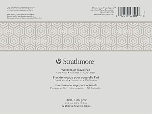 Strathmore Watercolor Travel Pad Glued 6x8