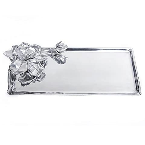 Arthur Court Magnolia Oblong Tray, 19 by 8-Inches