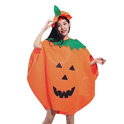 Minzhi Erwachsene Kinder Kinder Kürbis-Halloween-Kostüm-Kindertagesbühnenkleidung