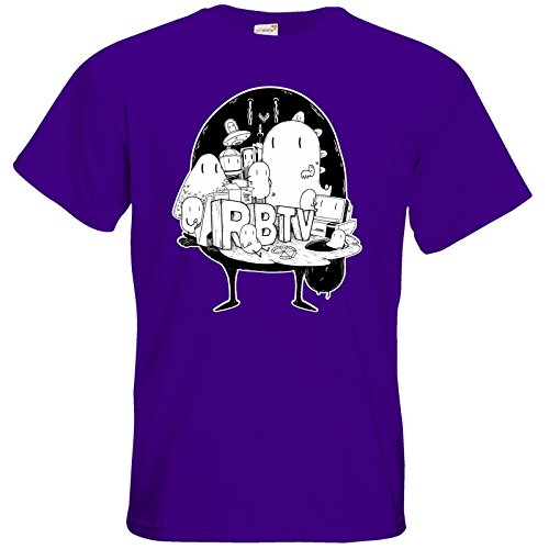 getshirts - Rocket Beans TV Official Merchandising - T-Shirt - Brains Purple