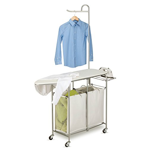 honey-can-do-rolling-laundry-sorter-with-ironing-board-and-shirt-hanger-multi-colour