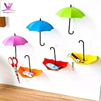 sunnymi Cute Self Adhesive Wall Mount Key Clothes Holder Wall Hook Hanger Organizer Durable Umbrella Decorative