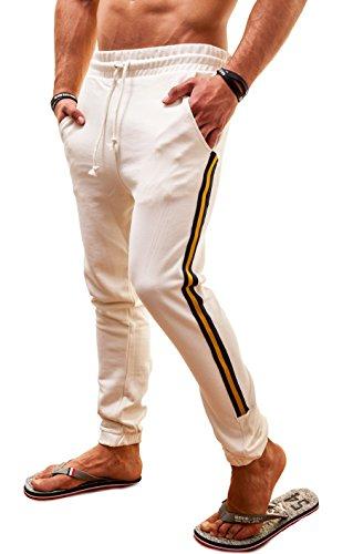 Diesel Uomo Pantaloni sportivi Martin Motion Divison, bianco, Medium
