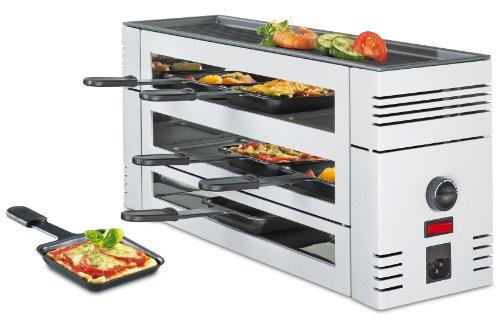 Spring Pizza-Raclette-6 mit Alu-Grillplatte, Farbe weiß (H.Nr. 3367710001)