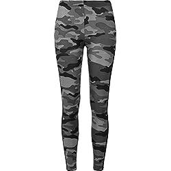 Urban Classics Ladies Camo Stripe, Leggings para Mujer, Multicolor (Darkcamo/Blk 00840),XXL