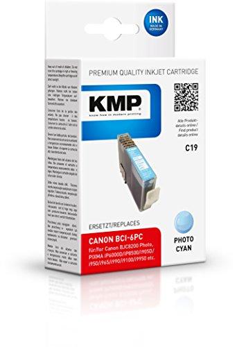 Preisvergleich Produktbild KMP Tintenkartusche für Canon BJC 8200 Photo/S800/S900, C19, light cyan