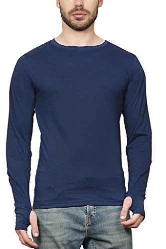 Maniac-Mens-Fullsleeve-Round-Neck-Navy-Cotton-Tshirt