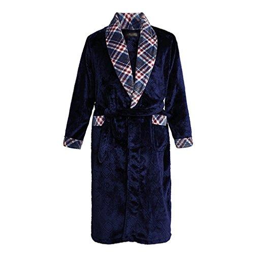 ZLR Spring And Autumn Men's Sleep Robe Middle Long Section Home Clothes Bathrobe