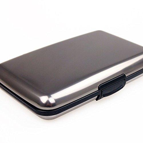 Miaomiaogo Business Id Kreditkartenetui Geldbörse Tasche Case Anti Rfid Grau