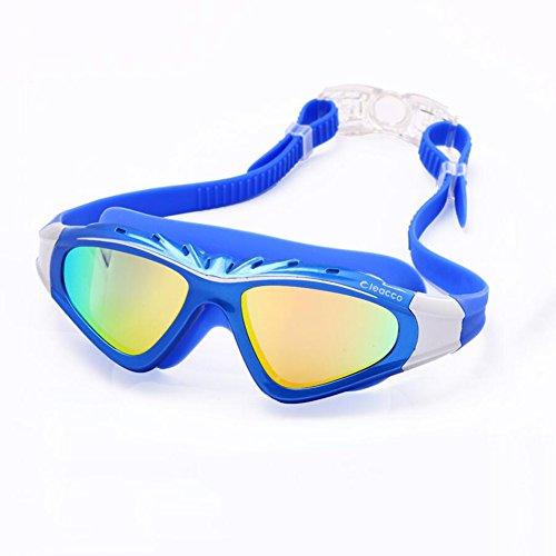 HONEY Schwimmen-Schutzbrillen-Unisex Erwachsene Nicht Fogging Anti-UV Wasserdichte HD Gläser