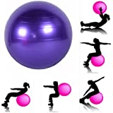JERN Anti-burst Fitness Exercise Stability Yoga Ball / Swiss, Birthing, gym Ball 65 CM (Random color)