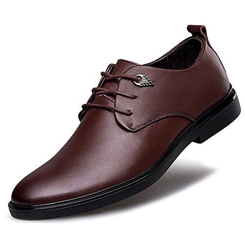 MERRYHE Chaussures De Derby Classique Mens Chaussures à Lacets en Cuir Véritable à Lacets Fit Robe De Soirée De Mariage