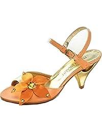 DAVID BRAUN  Sandalette orange, Sandales pour femme