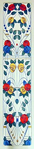 Mackintosh Roses Fireplace 5 Tiles Mural Decorative Mackintosh Style Vertical Tiles Mural Hand Made & Decorated in the