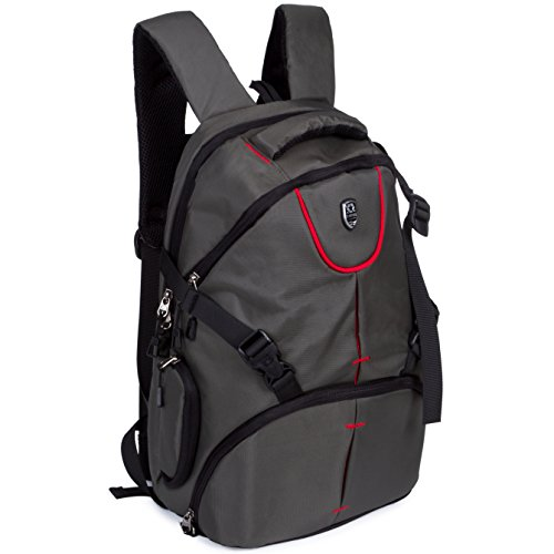 BAIGIO Zaino Multifunzianle per Fotocamera SLR Accessori Backpack Porta 16'' Laptop da Uomo e Donna Stile Business e Leisure, Verde Scuro
