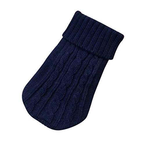 eiuEQIU\'s Haustier Warme Stricken Hundepullover, Sweater Gestrickter Pullover für Kleine Hunde, Hunde Pullover Katzenpullover für Herbst Winter Hundebekleidung für Kleine Hunde