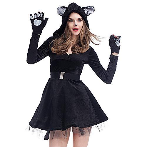LYQ Princess Frauen Sexy Black Cat Rolle Spielen -