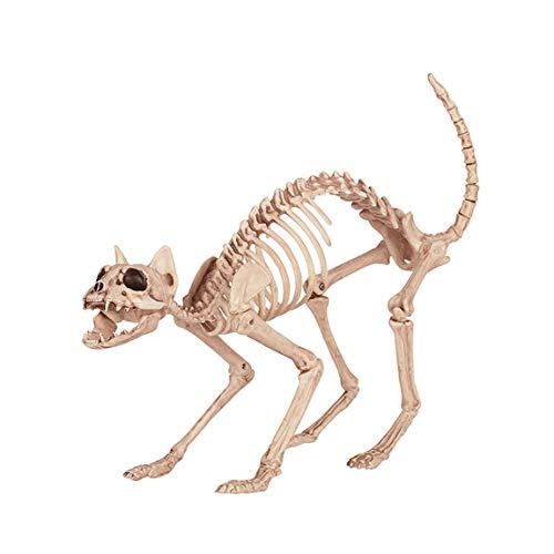 QAR Halloween Dekorationen Spuk Haus Katze Knochen Horror Stick Film Requisiten Halloween