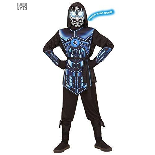 Imagen de traje para niños de ninja  153  158 cm, 11  13 años   disfraz infantil de ninja ciber   traje samurai futurista   disfraz ninjago alternativa