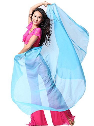 240cmx 120cm Chiffon Lndian Bauchtanz Kostüm Chiffon großer Schleier Schal (Verkauf Dance Billig Uk Kostüme Für)
