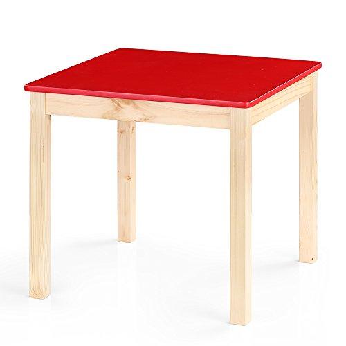 IKAYAA Table en Pin Mignon Solide Table d'Activité Apprendre à Jouer Enfant