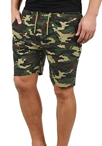 !Solid Taras Herren Sweatshorts Kurze Hose Jogginghose Mit Verschließbaren Eingriffstaschen Und Kordel Regular Fit, Größe:XL, Farbe:Ivy Green Camouflage (C3797)