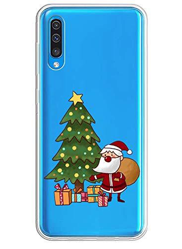 Fvntuey Handyhülle kompatibel mit Samasung Galaxy S6 / Samsung Galaxy G920F Hülle Transparent Dünn Bumper Silikon Case Weihnachtsfeier Theme