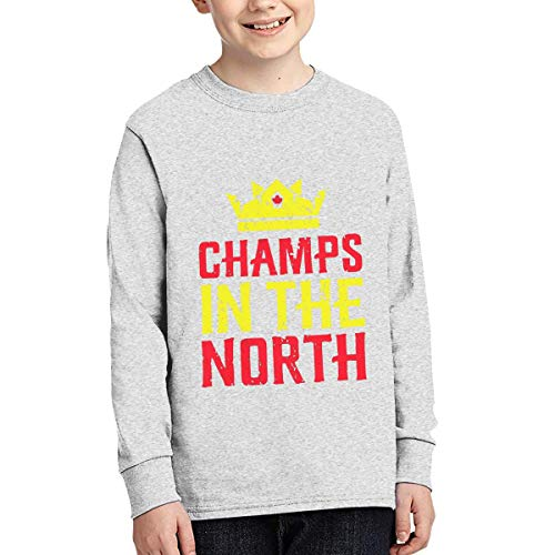 Junior Long Sleeve T-Shirt Custom Pattern Champs In The North (Peoples T-shirt Champ)