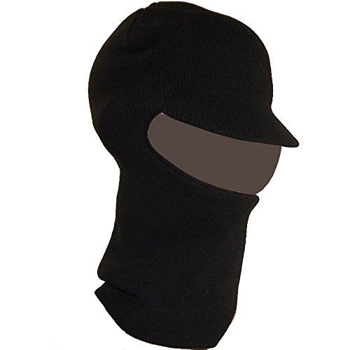 Chapeau-tendance - Cagoule Noire à visière - - Homme et Femme