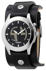 Fossil - JR8122 - Montre Homme - Quartz analogique et Digitale - Bracelet en Cuir Noir