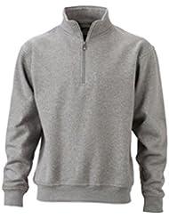 JAMES & NICHOLSON Sweat-shirt avec col montant et zip