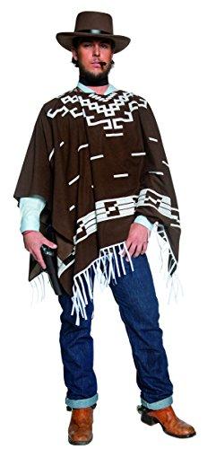 - Western Braun Poncho Für Erwachsene Kostüme