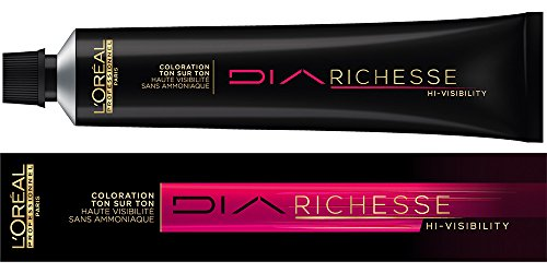 Dunkel Braun Haarfarbe Highlights (L'Oréal Professionnel Diarichesse Hi-Visibility, 34 Bernstein Braun, 1er Pack (1 x 50 ml))
