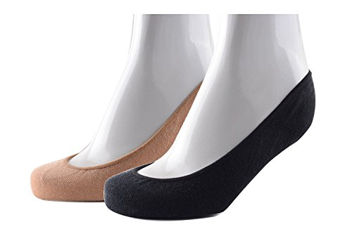 Women Cotton Rich No Show Invisible Socks, ZUMIY® Ladies Anti-Slip No Show Socks UK 3.5-7, EU 35-40
